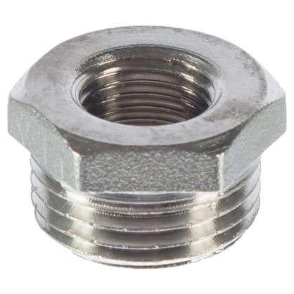 Футорка Valtec наружняя-внутренняя резьба 1/2х1/4 мм никелированная латунь