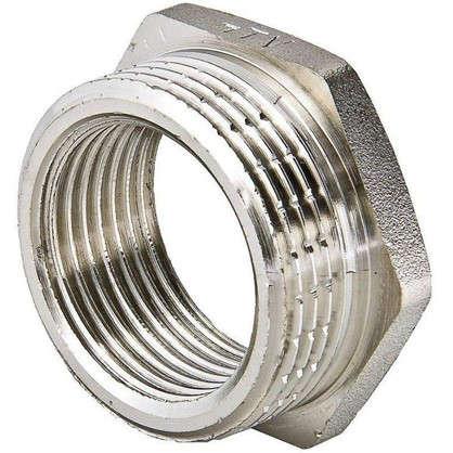 Футорка Valtec внутренняя-наружная резьба 1 1/4х3/4 никелированная латунь