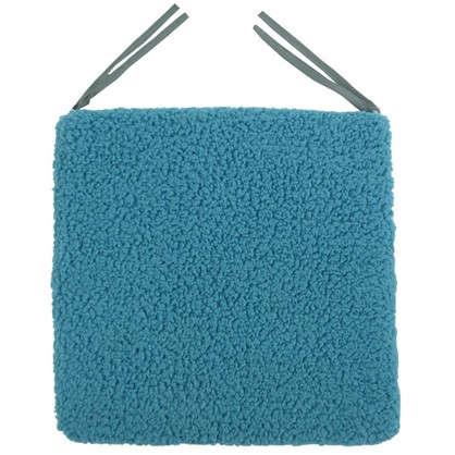 Галета для стула Шерпа 40x40 см цвет морская волна