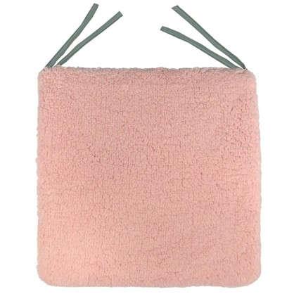 Галета для стула Шерпа 40x40 см цвет розовый