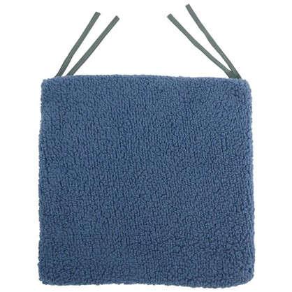 Галета для стула Шерпа 40x40 см цвет серо-синий