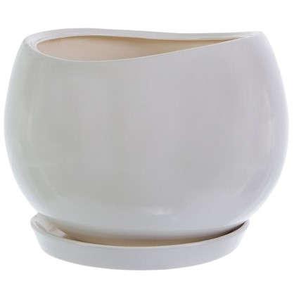 Горшок цветочный Адель d13 см керамика цвет белый