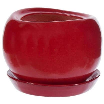 Горшок цветочный Адель d13 см керамика цвет красный