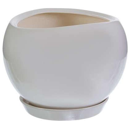 Горшок цветочный Адель d20 см керамика цвет белый
