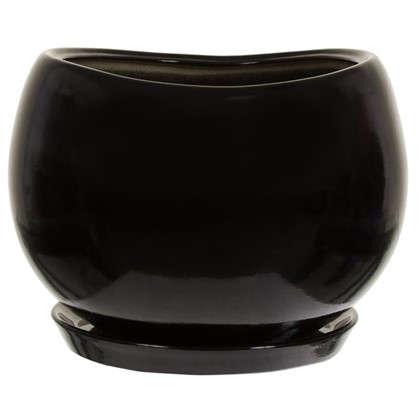 Горшок цветочный Адель d28 см керамика цвет чёрный