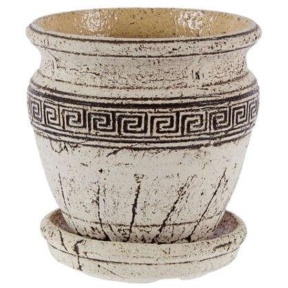 Горшок цветочный Аттика №2 1.8 л 170 мм шамотная глина