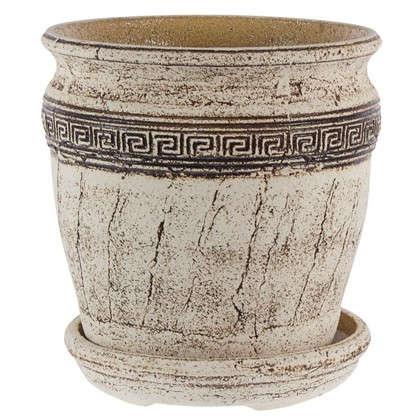 Горшок цветочный Аттика №5 18 л 340 мм шамотная глина
