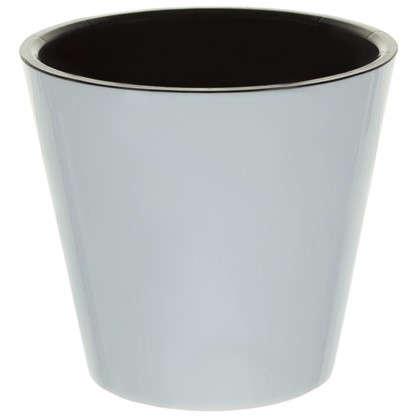Горшок цветочный Фиджи белый 1.6 л 160 мм пластик с поддоном
