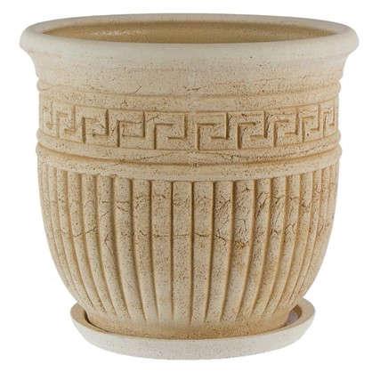 Горшок цветочный Ионик №4 32 л 420 мм шамотная глина