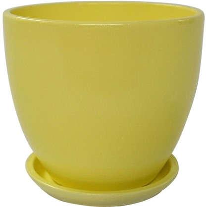 Горшок цветочный Колор гейм керамика 0.8 л 12 см цвет жёлтый