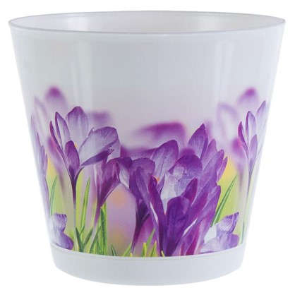 Горшок цветочный Крит Цветы 0.7 л 120 мм пластик с поддоном