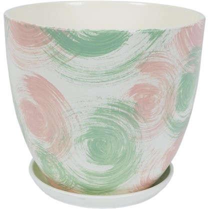 Горшок цветочный Мяун №2 0.8 л 120 мм глина цвет светло-зелёный
