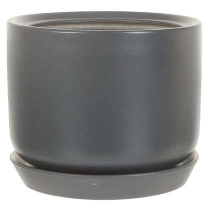 Горшок цветочный Орфей d15 см керамика цвет серый