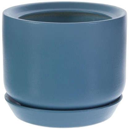 Горшок цветочный Орфей d15 см керамика цвет синий