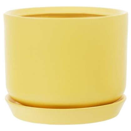 Горшок цветочный Орфей d15 см керамика цвет жёлтый