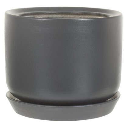 Горшок цветочный Орфей d19 см керамика цвет серый