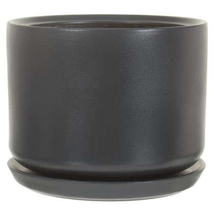 Горшок цветочный Орфей d29 см керамика цвет серый