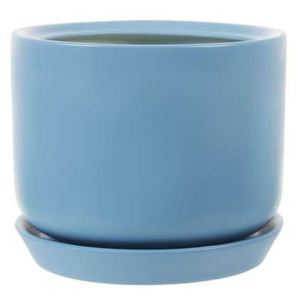 Горшок цветочный Орфей d29 см керамика цвет синий