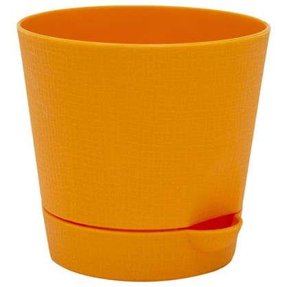 Горшок цветочный Партер оранжевый 0.7 л 115 мм пластик