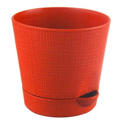 Горшок цветочный Партер оранжевый 2.8 л 195 мм пластик