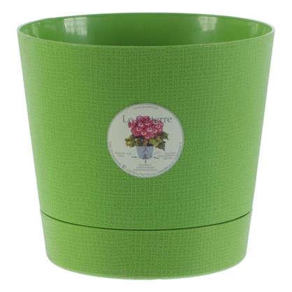 Горшок цветочный Партер зелёный 1.4 л 150 мм пластик
