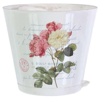 Горшок цветочный Прованс 0.7 л 120 мм пластик с поддоном