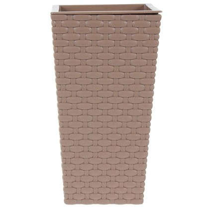 Горшок цветочный Ротанг коричневый 140 мм пластик