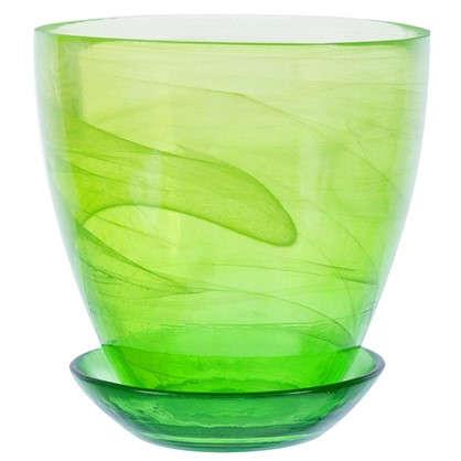Горшок цветочный Современный жёлто-зелёный 0.85 л 130 мм стекло