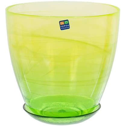 Горшок цветочный Современный жёлто-зелёный 3 л 195 мм стекло