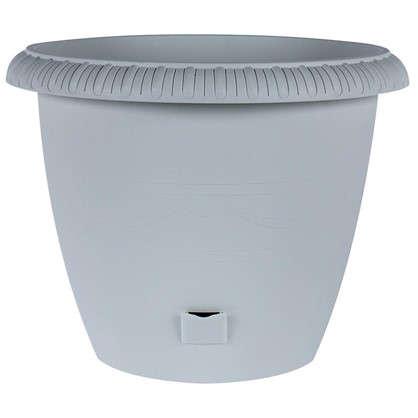 Горшок цветочный Жардин серый 20.5 л 400 мм пластик