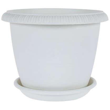 Горшок цветочный Жардин серый 9.5 л 300 мм пластик