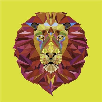 Холст 30х30 см Лев