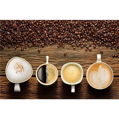 Холст 50х40 см Четыре чашки кофе