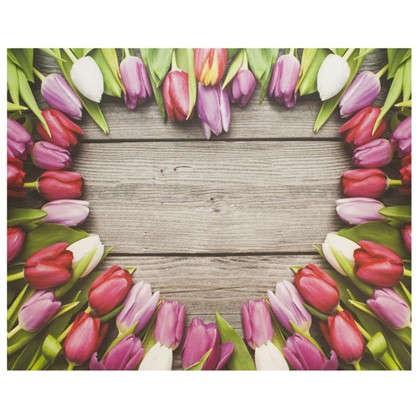 Холст 50х40 см Тюльпаны сердца