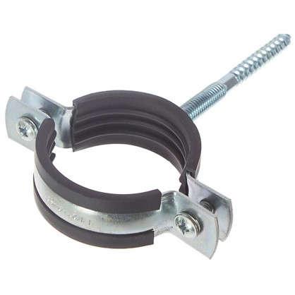 Хомут с резиновым уплотнителем и шурупом 48-53 мм