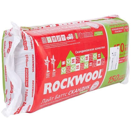 Изоляция Rockwool Лайт Баттс Скандик 150 мм 3.6 м2