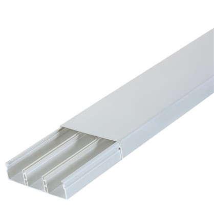 Кабель-канал плинтус 74х20 мм цвет белый