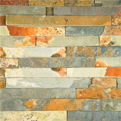 Камень натуральный Сланец цвет мультиколор 0.63 м2