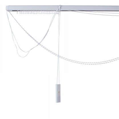 Карниз для вертикальных жалюзи к механизму 200х180 см металл цвет черно-белый