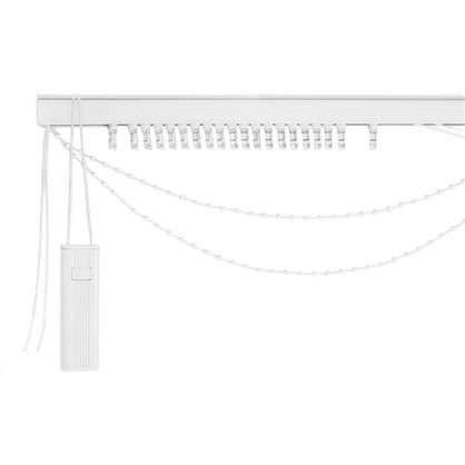 Карниз для вертикальных жалюзи от центра 240х180 см металл цвет черно-белый