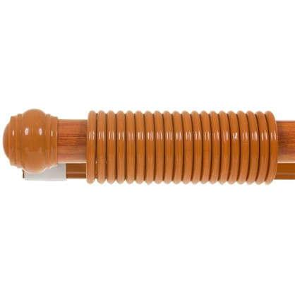Карниз двухрядный 240 см металл/пластик цвет черешня