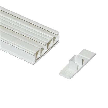 Карниз шинный двухрядный Эконом в наборе 160 см пластик цвет белый