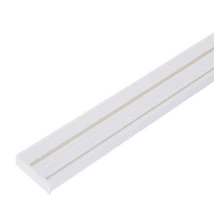 Карниз шинный двухрядный Эконом в наборе 200 см пластик цвет белый