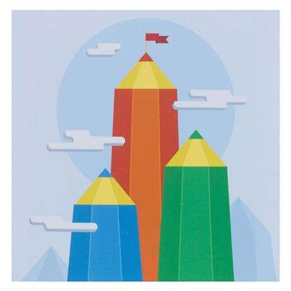 Картина на холсте 30х30 см Горы из карандашей