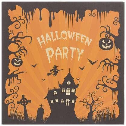 Картина на холсте 30х30 см Halloween Party