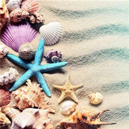 Картина на холсте 30х30 см На песке