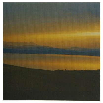 Картина на холсте 30х30 см Озеро на закате