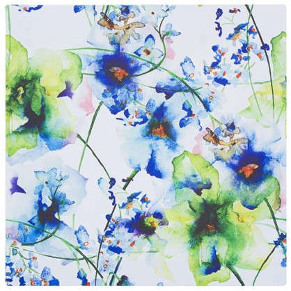 Картина на холсте 30х30 см Принт голубые цветы-2