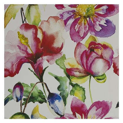 Картина на холсте 30х30 см Принт розовые цветы