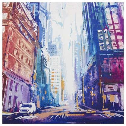 Картина на холсте 30х30 см Улица